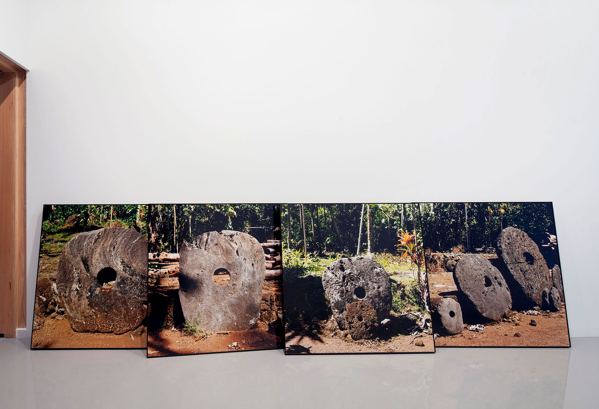 Nicholas Mangan, *Limits to Growth*, 2016, hand-printed C type photographs, 120 x 120 cm each. Installation view, Monash University  Museum of Art, Melbourne, 2016. Photographer: Andrew Curtis.
